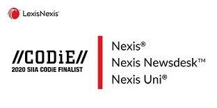 Nexis, Nexis Newsdesk and Nexis Uni Named SIIA Business Technology Product CODiE Award Finalists