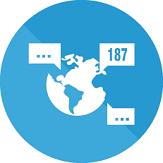 187 languages icon