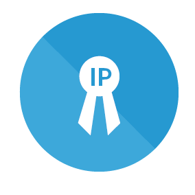 IP Management icon in blue