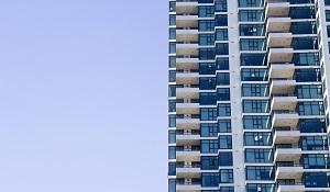 Block of flats against sky