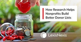 news and events, Strategic research, Nexis with Dossier, Non-profits, Donor Lists