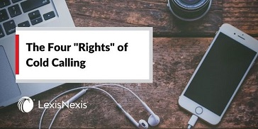 """Laptop and mobile phone with headphones sit on a desk – perfect for cold calling. """"The Four Rights of Cold Calling"""""""