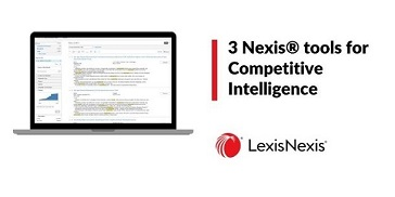 A Laptop shows a search results screen – 3 Nexis tools for Competitive Intelligence