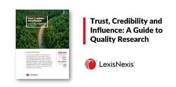 An image of the Turst, Credibility and Influence: A Guide to Quality Research paper.
